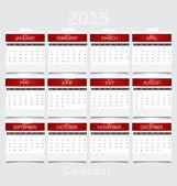Simple 2015 year calendar. Vector illustration. — Stock Vector