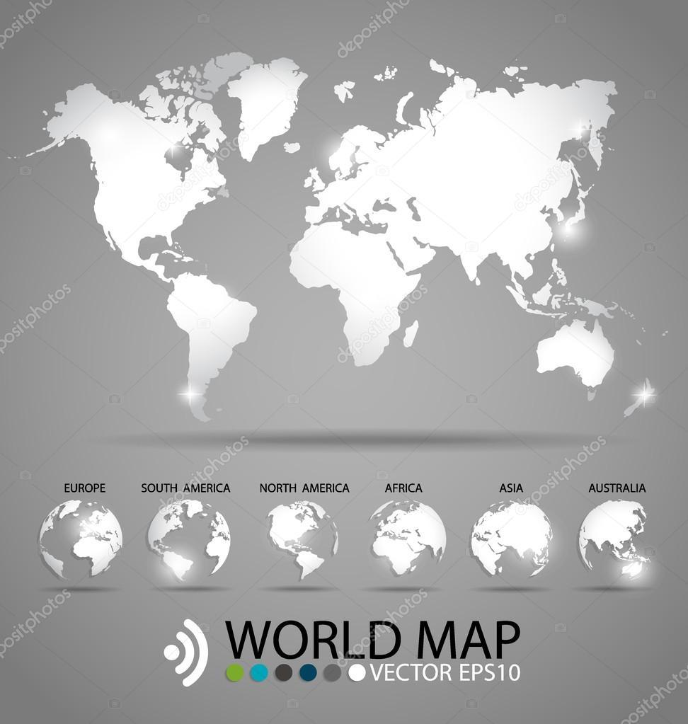 现代世界地图设计, 矢量图