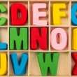 Colorful wooden alphabet letters set — Stock Photo #57498623