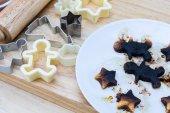 Christmas cookies burn — Stock Photo