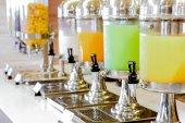 Fresh juice at buffet restaurant — Stock Photo