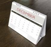 December Calendar  2015 on wood table  — Stock Photo