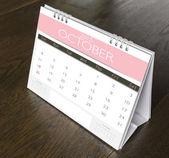 October Calendar  2015 on wood table  — Stock Photo