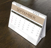 September Calendar 2015  on wood table  — Stock Photo