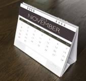 November Calendar  2015 on wood table  — Stock Photo