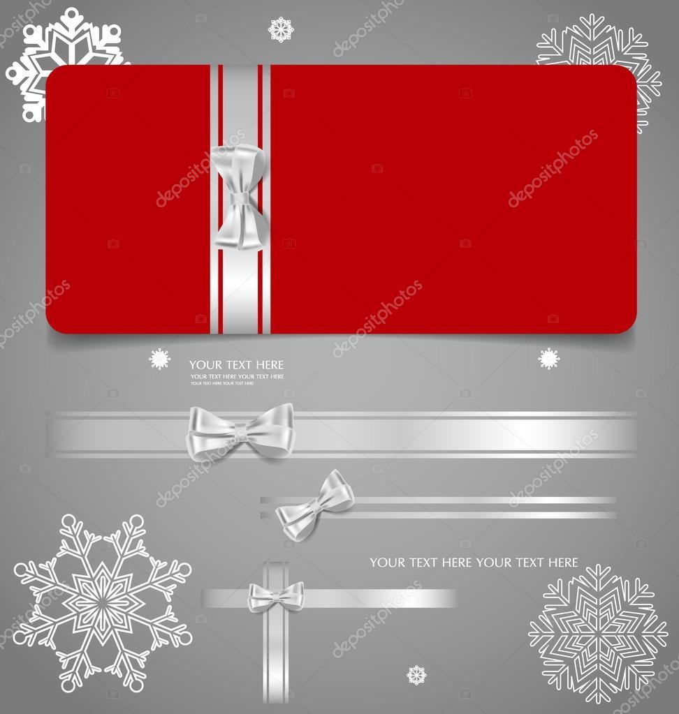 holiday gift coupons gift bows and ribbons vector illustra holiday gift coupons gift bows and ribbons vector illustra stock vector 58738575