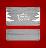 Merry Christmas gift card design , vector illustration. — Stock Vector