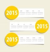 2015 calendar. Vector illustration. — Stock Vector