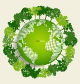 Green Eco Earth. Vector Illustration. — Stockvector