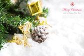 Christmas decoration with snow — Stock Photo