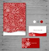 Holiday Gift cards with snowflake. Vector illustration. — Stock Vector