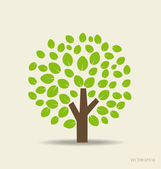 Stylized tree. Vector illustration. — Stock Vector