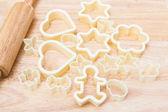 Christmas cookies preparation — Stock Photo