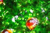 Closeup of Christmas-tree decorations — Stock Photo