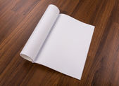 Blank catalog, magazines,book mock up on wood background — Stock Photo
