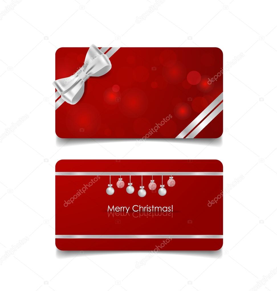 holiday gift coupons gift bows and christmas ball vector i holiday gift coupons gift bows and christmas ball vector i stock vector