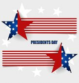 Happy Presidents Day. Presidents day banner illustration design  — Stock Vector