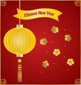 Chinese new year background with Chinese New Year decorative ele — Stock Vector
