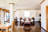 Interieur van moderne comfortabele hotelkamer — Stockfoto