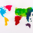 Water color map of the world on white paper — Стоковое фото #67996941
