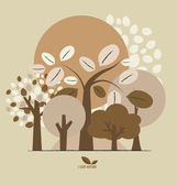 Abstract trees. Vector illustration. — Stock Vector