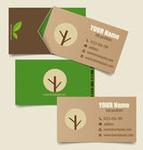 Modern business card template with nature background, vector ill — Stock Vector