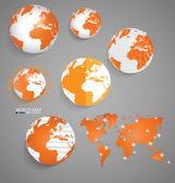 World map, vector illustration. — Stock Vector
