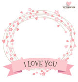 Happy Mother's Day with ribbon and heart, vector illustration. — Stock Vector
