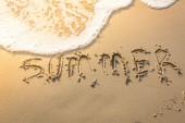 在海滩上夏天词 — 图库照片