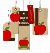 Welcome back to school. Sale Coupon, voucher and tag. Vector ill — Stock Vector
