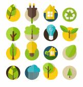 Ecological Icons. Vector illustration. — Stock Vector