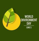 World environment day concept. Vector illustration — Stock Vector