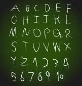 Chalk hand drawing alphabet design, vector illustration. — Stock Vector