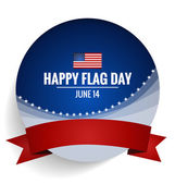 American Flag Day, 14 of June Flag Day. Vector illustration. — Stock Vector