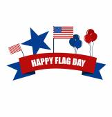 American Flag Day, 14 of June Flag Day. Vector illustration. — Stock Vector