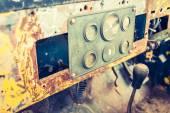 Vintage car gauge meter ( Filtered image processed vintage effec — Stock Photo