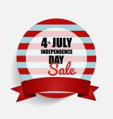 4 th of July. Happy independence day Sale Coupon, voucher, tag. — Stock Vector