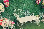 Decorated and wedding chair ( Filtered image processed vintage e — Stock Photo
