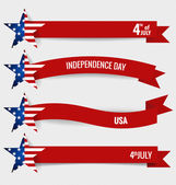Happy independence day card United States of America. 4 th of Ju — Stock Vector