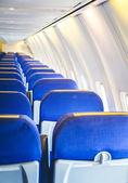 キャビン内の飛行機の座席 — ストック写真