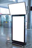 Blank Billboard in airport — Stock Photo
