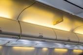 Cabin inside aircraft — Stock Photo
