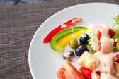 Fresh vegetables salad — Stock Photo