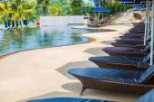 Swimming pool with seats — Stock Photo