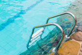 Swimming pool with stairs — Stock Photo