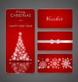Cupom, cartão presente, voucher — Vetor de Stock