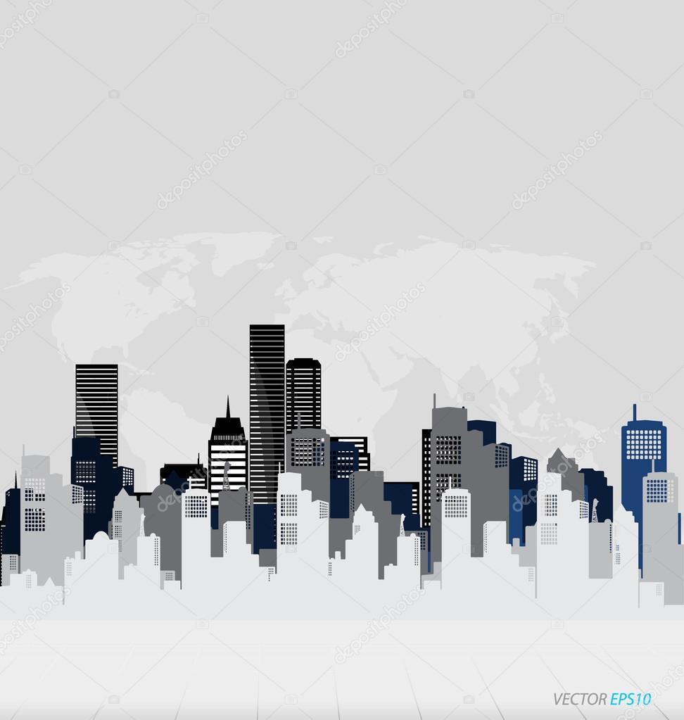 Plantilla de dise o de edificios creativos vector de for Diseno de edificios