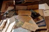 Old photos and correspondence. — Stock Photo