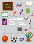 Back to School set — Stock Vector
