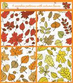Autumn patterns  — Stock Vector